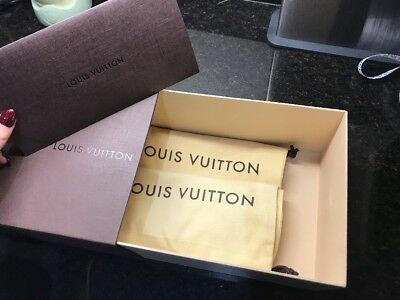 Louis Vuitton box and 2 X dust bags 100% Authentic