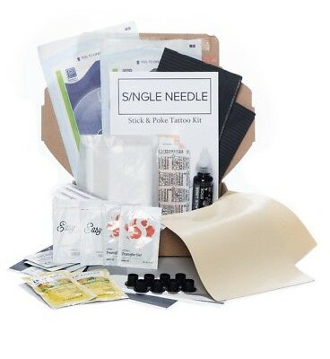 Single Needle - Hand Poke COMBO Tattoo Kit