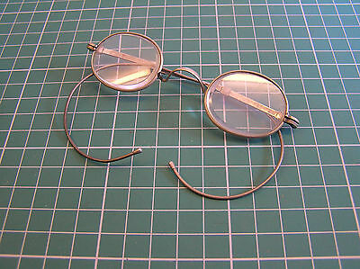 Vintage Spectacles Oval Metal Frame Unusual Adjustable Cable Temples Steam Punk