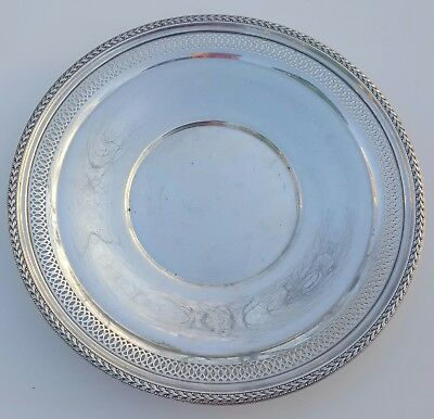 Sterling Silver Large Serving Plate Marked  M  793 (8.04 Ounces)