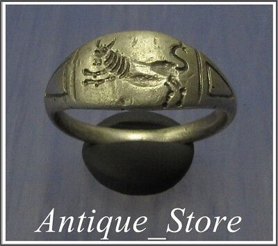 ** BULL ** LEGIO SEXTA VICTRIX** Ancient Silver LEGIONARY Roman  Ring