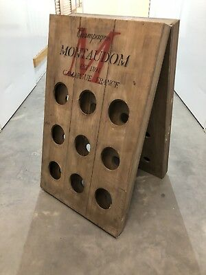 Rustic French Style Timber Wine Rack