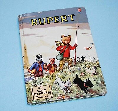 Rupert Annual 1955, Good Condition, Rare, Not Price Clipped (4/6)