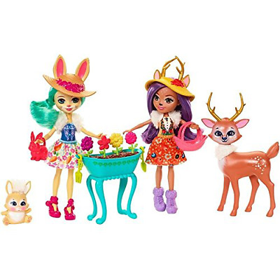 Enchantimals Garden Magic Toy Doll with Pet Animal Set