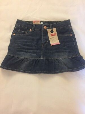 Girls Size 6X Levi's Jean Scooter Skirt NWT
