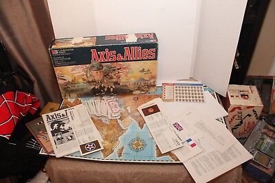 Axis & Allies Board Game Spring 1942 MB Gamemaster Series 2nd Edition From 1986