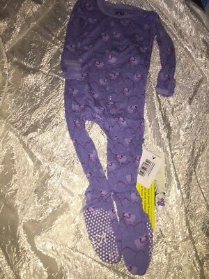NEW KICKEE PANTS  Print Footie Forget Me Not Mountain Goat Size 6-12  Months