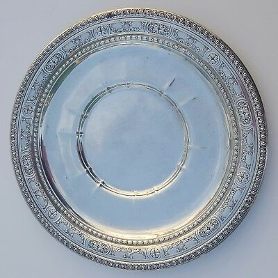 Sterling Silver Fancy Large Serving Plate Signed Wallace 4422 & Symbols 11.28 OZ