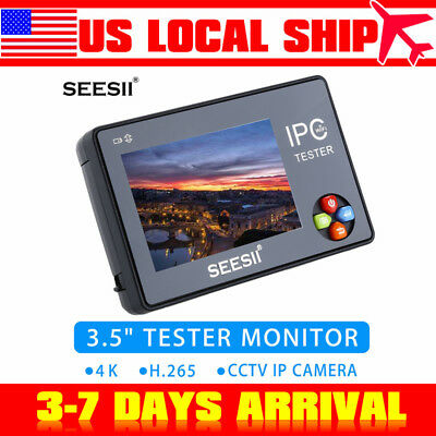 "3.5"" Touch Screen 4K CCTV IP Camera Tester Monitor WIFI PTZ Control Video Audio"