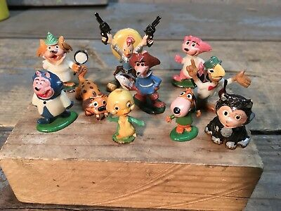 Vintage Lot Of 10 MARX TINYKINS TOP CAT SNAGGLEPUSS  More HANNA BARBERA 1960's