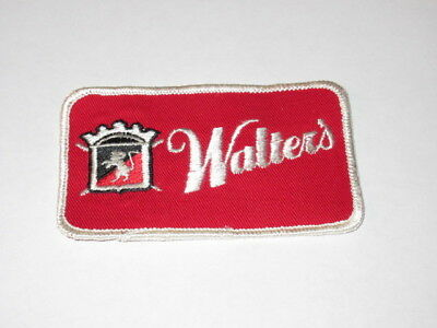 Vintage Walters Beer Advertising Delivery Driver Patch Unused Eau Claire Wi #2
