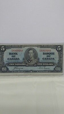 1937 Bank of Canada $5.00 Bank Note