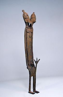 Tall two headed Dogon Ancestor bronze sculpture, African Art & Home decor