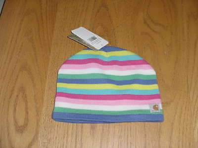 Nwt Girls Youth Carhartt Knit Winter Beanie Cap Hat(Fleece Lined)