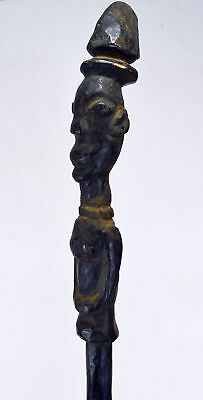 Vintage Yoruba Walking stick with Ancestor finial, African Art