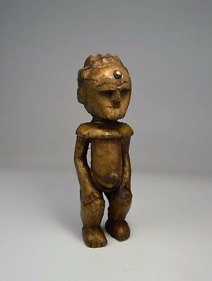 A Very Rare Old Ambete Brass covered Ancestor Idol, African Art
