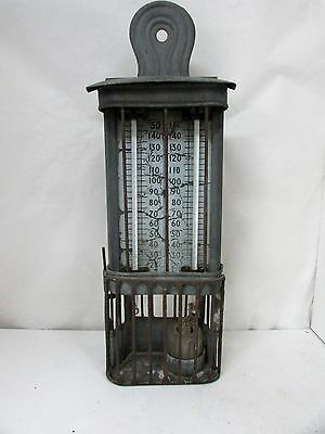 Rare Antique Accoson London No.4 Double Wet / Dry Thermometer In Metal Case
