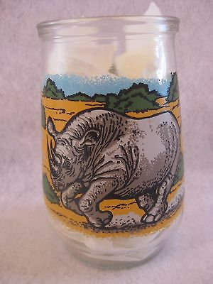 """Black Rhino Welch's Jelly Glass from the """"Endangered Species Collection"""""""