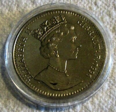 1996 Gibraltar 1 Crown, Elvis Presley/ Centenary of Cinema Commemorative