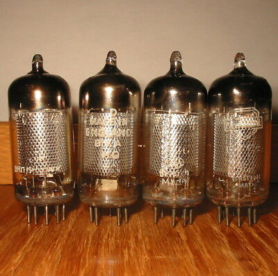 4 Vintage 1957/58/59 Mullard Ef86 6267 Long Square Fully Tested Leak/vox