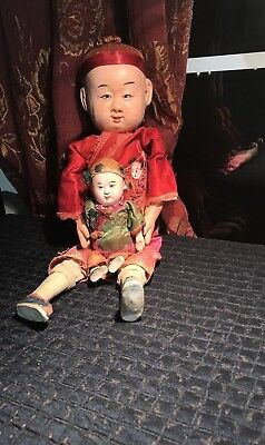 Antique Composition Chinese Dolls