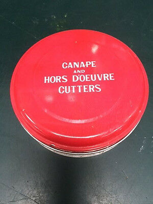 CANAPE and HORS D'OEUVRE CUTTERS Vintage Cutters (GOOD CONDITION)