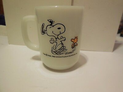 Fire King 1965 Peanuts Mug Snoopy And Woodstock At Times Life Is Pure Joy!