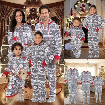 Family Matching Christmas Pajamas Set Women Baby Kids Sleepwear Nightwear USA