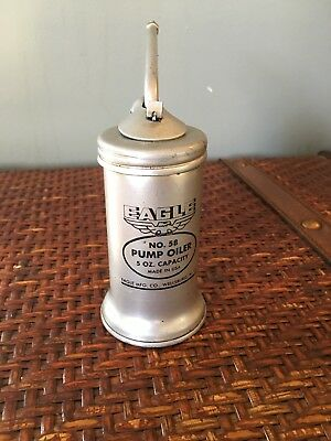 Vintage Eagle 5 Oz Pump Oiler #58. Made in the USA.