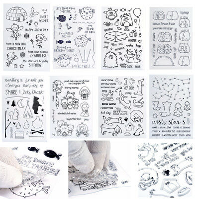 29Kinds Cartoon Silicone Rubber Clear Stamps Scrapbooking Embossing DIY Diary