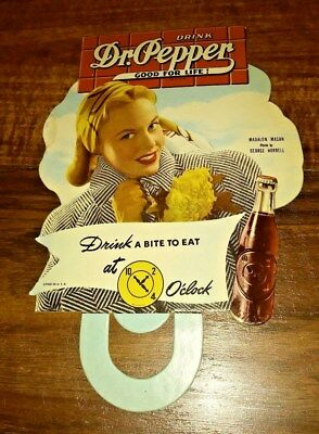 Very Rare Dr Peper Bottle Topper Dates To The 40`s