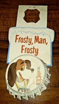 Frosty Dog Dr Pepper Bottle Hanger In Great Condition Dates To The 50`s