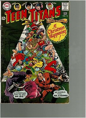 Teen Titans 13 A Christmas Happening 1967  VG/F
