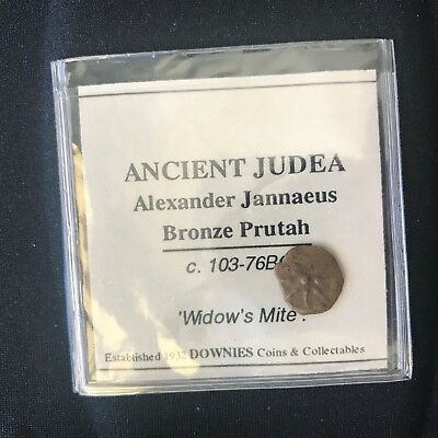 103-76BC-Bronze-Prutah-'Widow's Mite'-Ancient-Judea-Alexander-Jannaeus-Ex-Downie