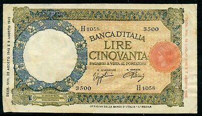 Weeda Italy #66, 50 L 1943 issue, see scans