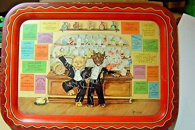Grace Lopez    1933    Hot Diggity Dog Bar      Lithograph Serving Tray