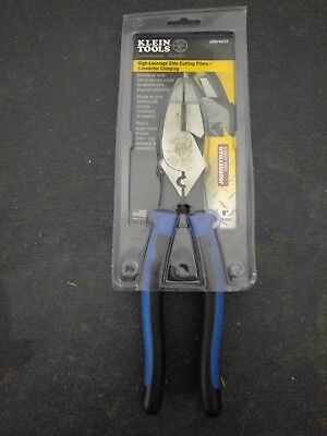 Klein Tools J2000-9NECR High-Leverage Side Cutting Pliers / Connector Crimping