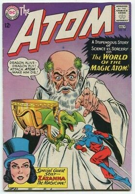 ATOM #19 (VF) 1965 2nd Appearance ZATANNA Gil Kane SEE MORE SILVER AGE (id#57)