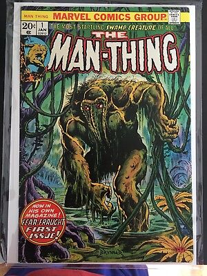 MAN THING # 1 COMIC BOOK ~ ~ KEY BRONZE AGE MARVEL HORROR 1st APPEARANCE!