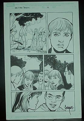 New X-Men - Yearbook issue #1 Original Art Page #15 SIGNED by Georges Jeanty