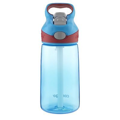 Contigo AUTOSPOUT Striker Kids Straw Water Bottle 14oz Electric Blue Leak Proof