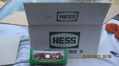 1999 Hess Mini Red Fire Truck Full Case Of 24 All Mint In Box In Master Case