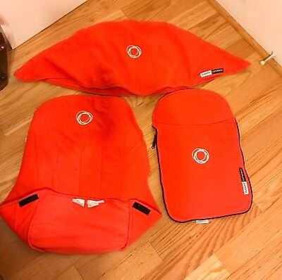Bugaboo Cameleon-3 Pc Canopy, Apron And Seat Liner Fleece Fabric Fit Frogs Too
