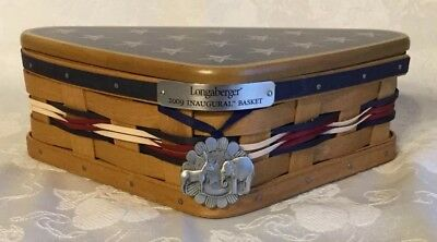 Longaberger 2009 Inaugural Basket Complete Set With Tie-on