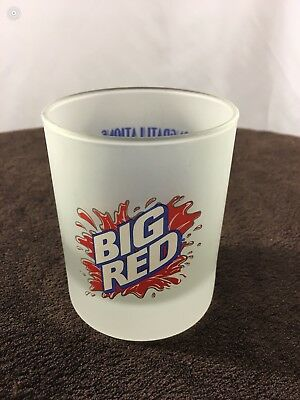 2000-BIG RED Soda 75th Anniversary Frosted Collector Glass