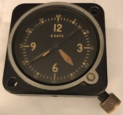 Vintage Jaeger LeCoultre Aircraft Airplane Clock Running