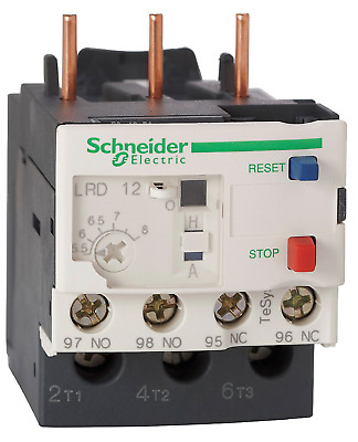 NEW! SCHNEIDER ELECTRIC 5.5 to 8A OVERLOAD RELAY, 3-POLES, LRD12