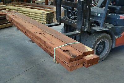 REDGUM SLEEPERS 200x50 x 3.0mt -  6pieces SECONDS - 6101