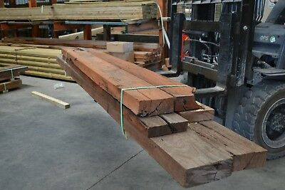 REDGUM SLEEPERS - assorted sizes & lengths -  6 pieces SECONDS - 6102