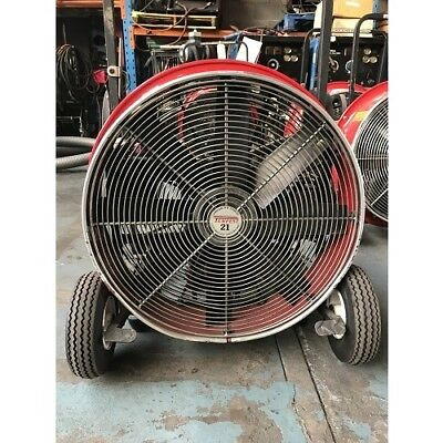 "Fan Blower Industrial Petrol Tempest 21"" Ventilator Positive Pressure Air Mover"